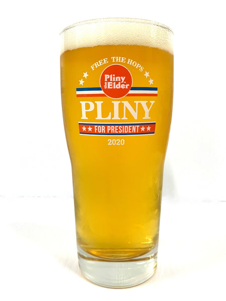 Pliny For President 16oz Pint Glass