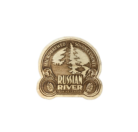 Russian River Brewing Wood Magnet