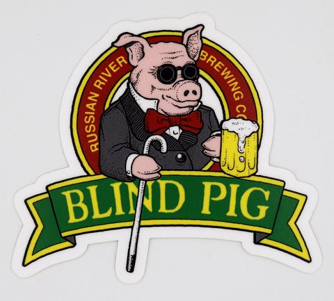 Large Blind Pig Sticker