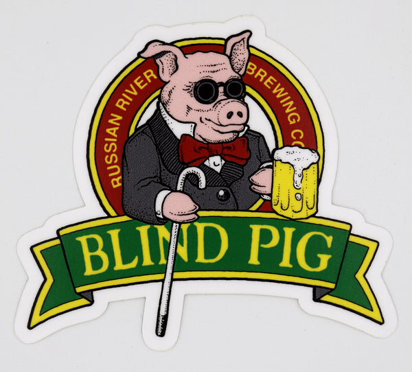 Small Blind Pig Sticker