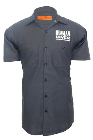 Pliny the Elder Work Shirt (Distressed Logo) - Charcoal
