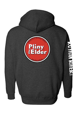 Pliny the Elder Zip Hoodie Dark Gray Men's