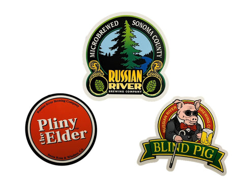 Collect All 3 Small Stickers! Pliny the Elder, Blind Pig, Russian River