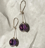 18k gold and amethyst earrings
