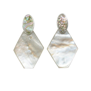 PENDULUM Earring / Mother of Pearl + Abalone