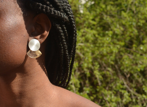 Moonbeam Earrings / Rutilated Quartz