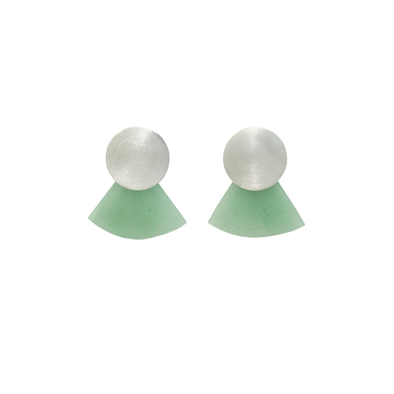 Moonbeam Earrings / Aventurine