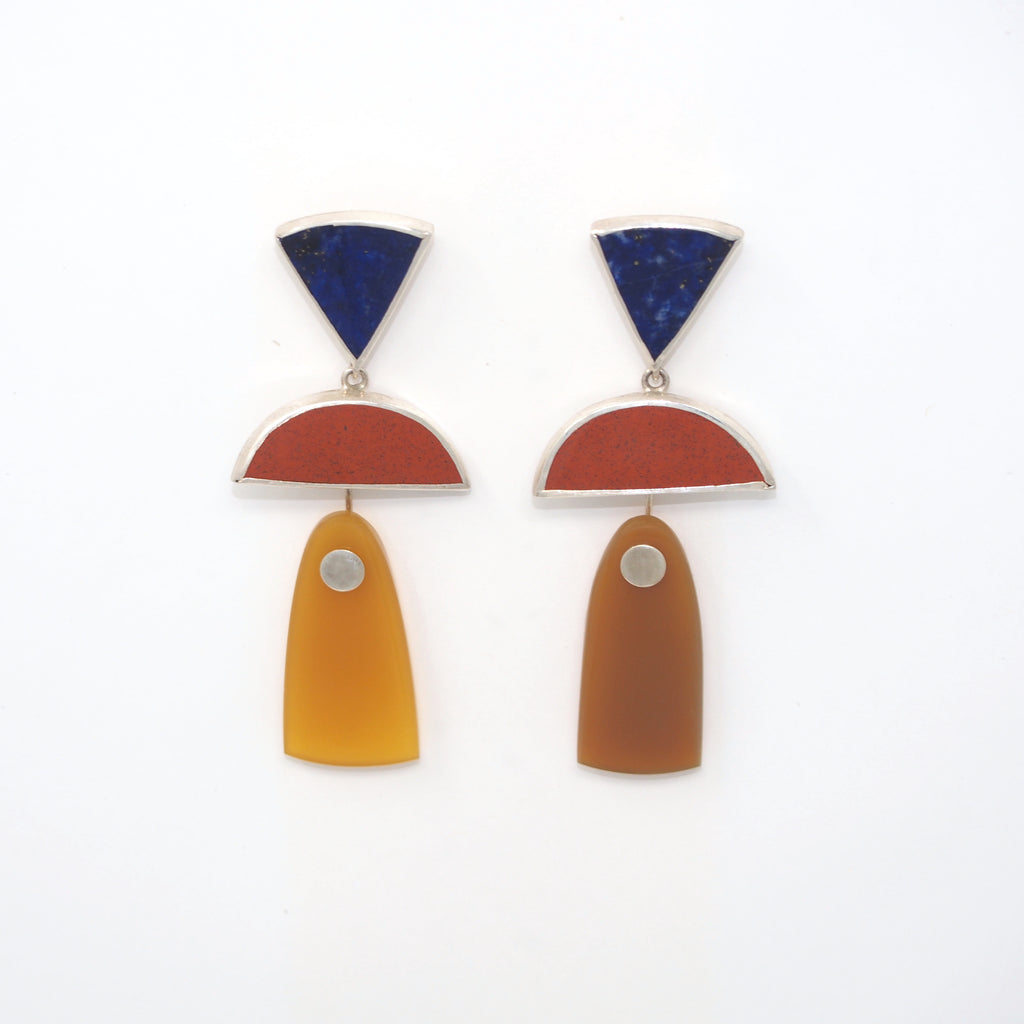 TRIO Drops / Lapis, Red Jasper, Yellow Agate