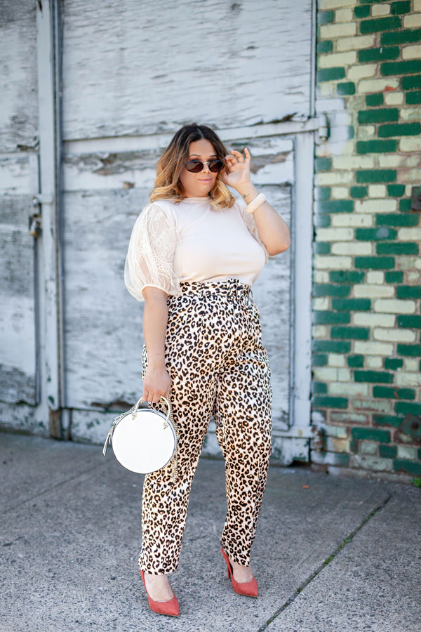 Cheetah Pants with Belt