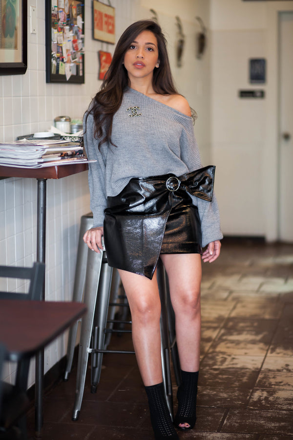 Mini Asymmetric Skirt