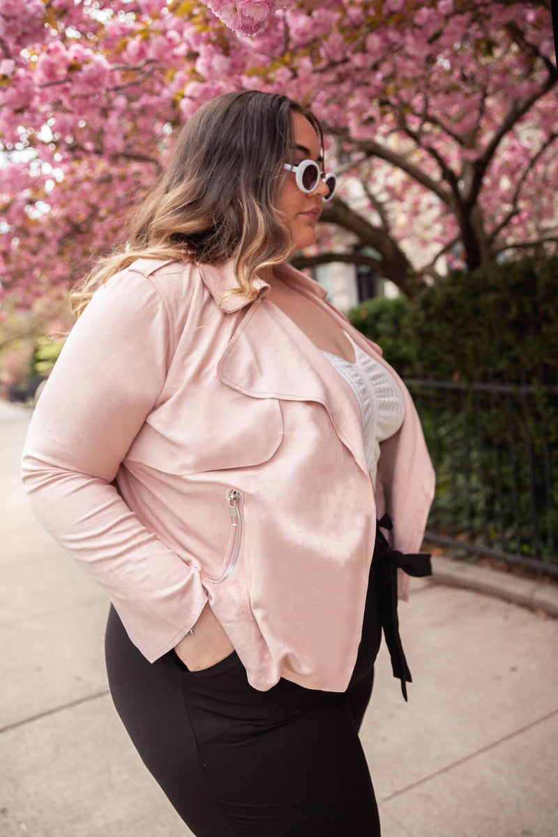 Brunch Pink Suede Jacket