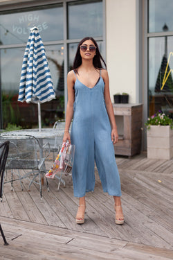 KC Denim Romper