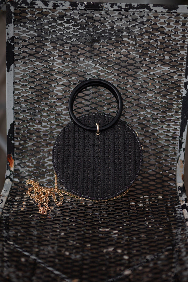 Black Sea Mini Woven Bag