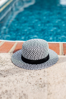 Roma Woven Rimmed Hat