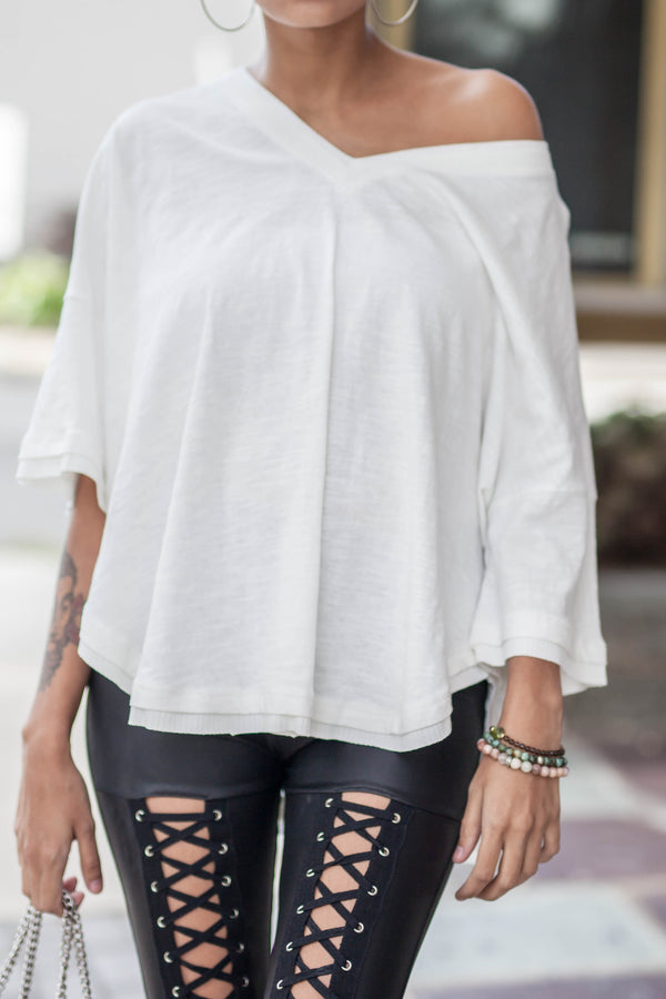 Oversized White Top