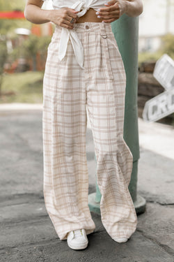 Simply Plaid Woven Pants