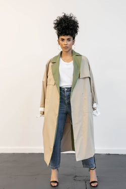 City Side Color Trench Coat