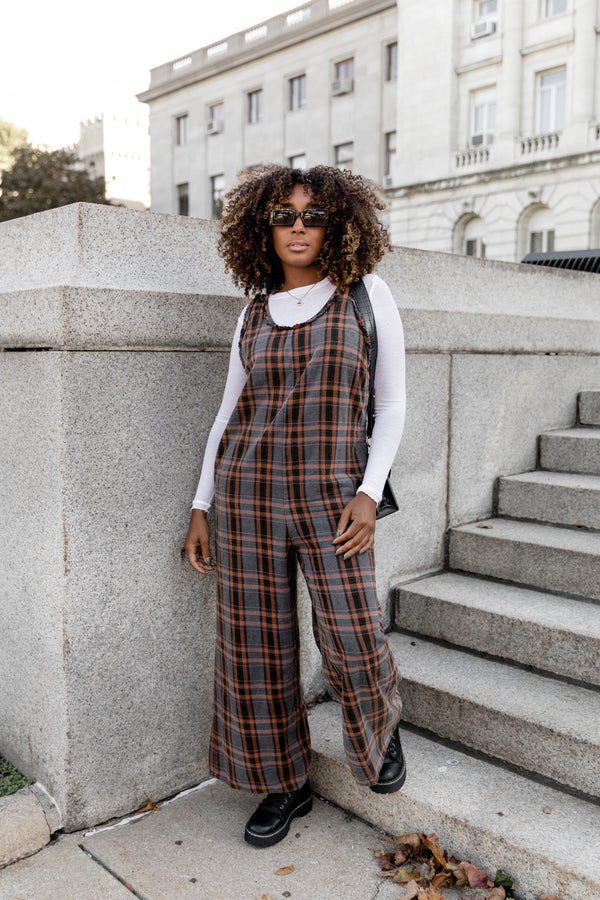 London Town Plaid Jumpsuit