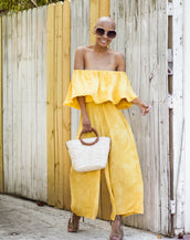 JACKIE YELLOW ROMPER