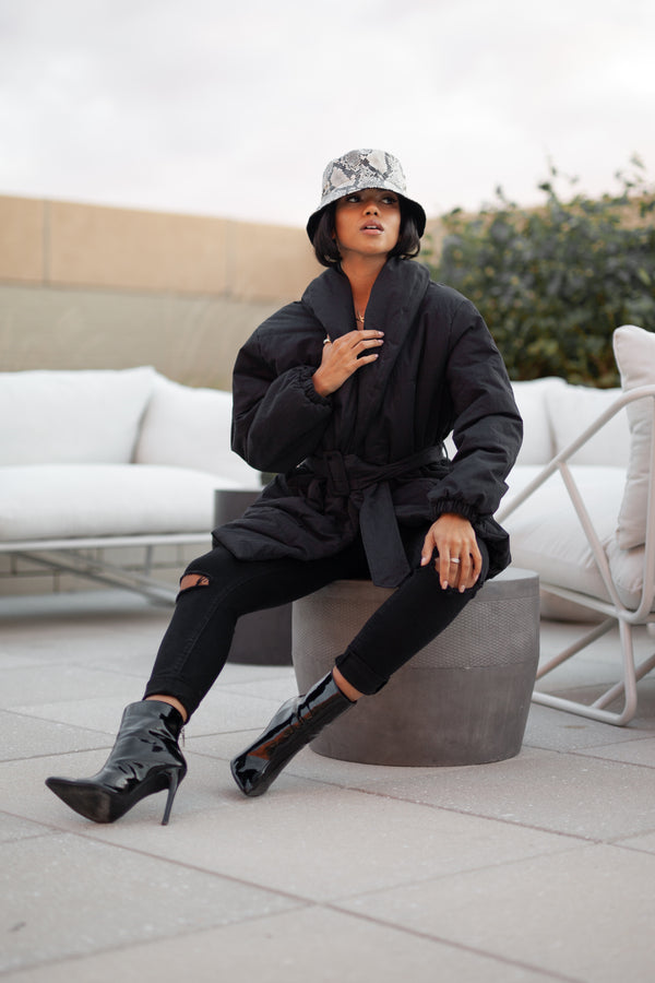 Boss Babe Black Parka