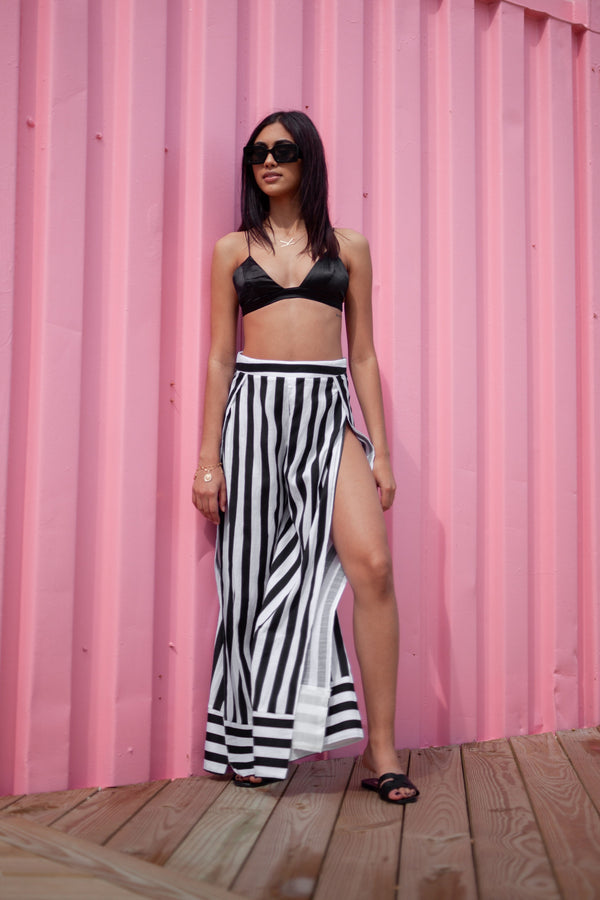 Cabana Slit Striped Pants