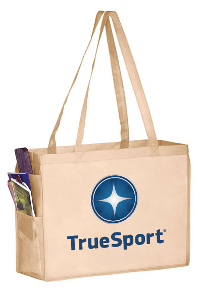 TrueSport Tan Tote with Side Pockets