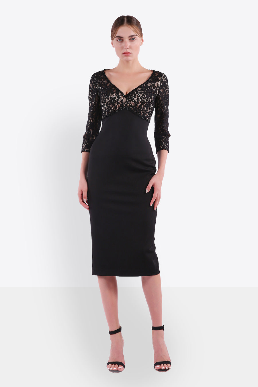 Lace Empire Waist Dress