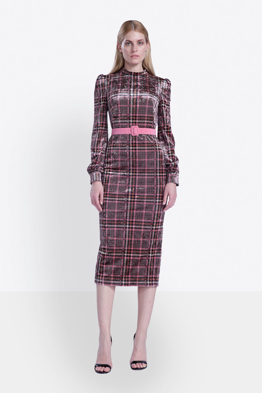Plaid Velvet Dress