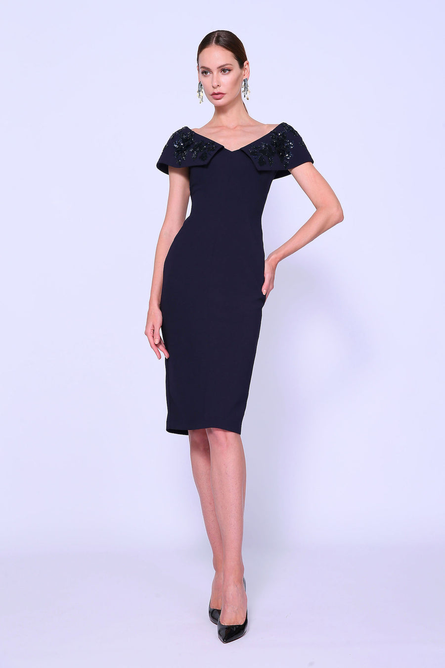 Open Portrait Cocktail Dress