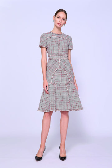 Plaid Fit & Flair Dress