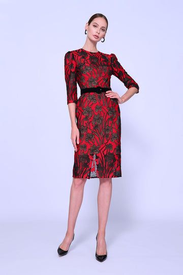 Elegant Fitted Sheath Dress