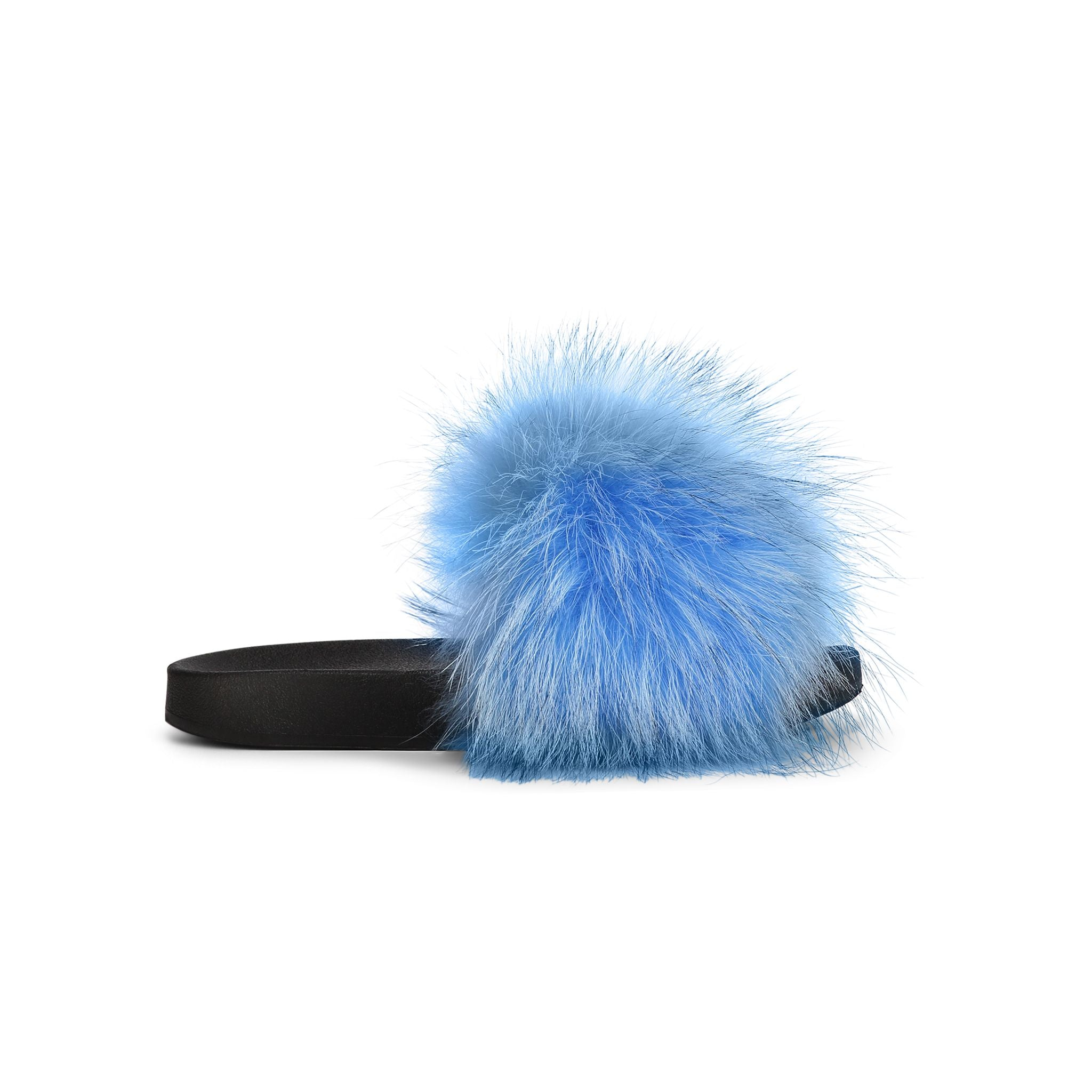 Confetti Neon Fox Fur Slides limited addition