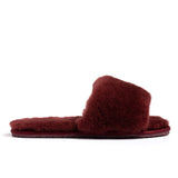 Confetti Boutique Burgandy Lamb Fur Slippers