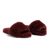 Confetti Boutique Burgandy Lamb Fur Slides