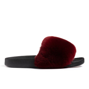 Confetti Boutique Burgandy Rabbit Slippers