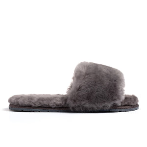 Confetti Boutique Grey Lamb Fur Slippers