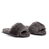 Confetti Boutique Grey Lamb Fur Slides