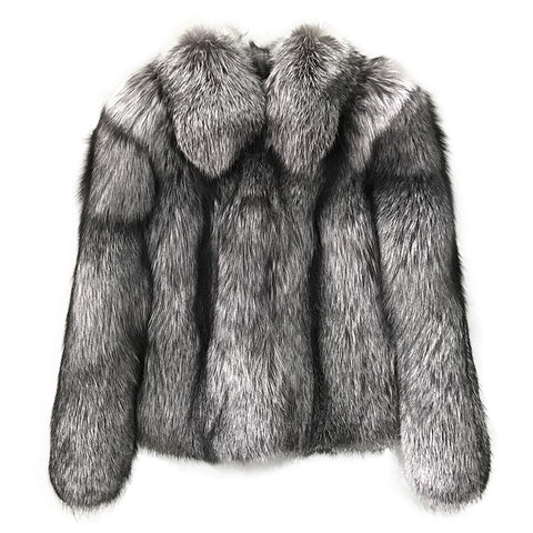 Confetti Women's Silver Fox Coat