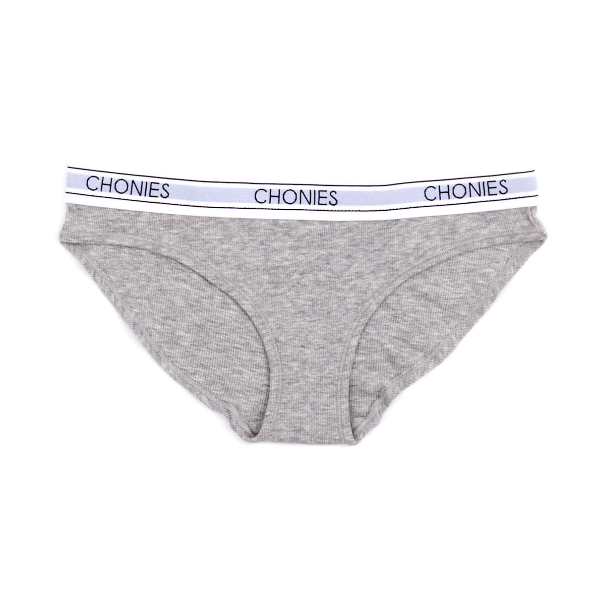 Ribbed Brief in Heather Grey