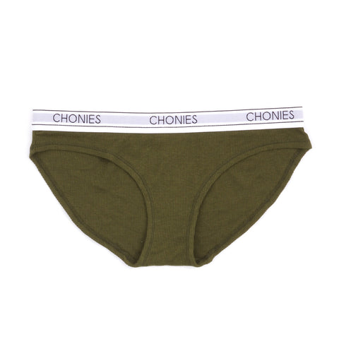 Ribbed Brief in Olive
