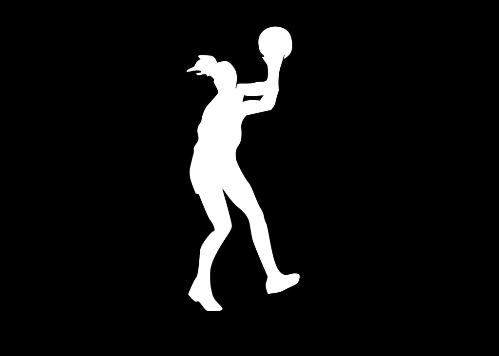 Basketball Girl Decal Sticker Graphic - The Decal God