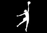 Basketball Girl Dunking Decal Sticker Graphic - The Decal God