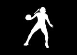Basketball Girl Dribbling Decal Sticker - The Decal God