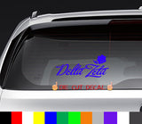 Delta Zeta Flowers Decal Sticker Graphic