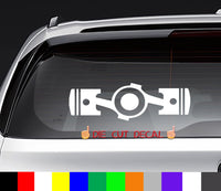 Subaru Flat Four Pistons Decal Sticker Graphic