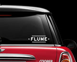 Flume Decal Sticker Festival EDC