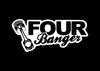 Four Banger Piston JDM Decal Sticker