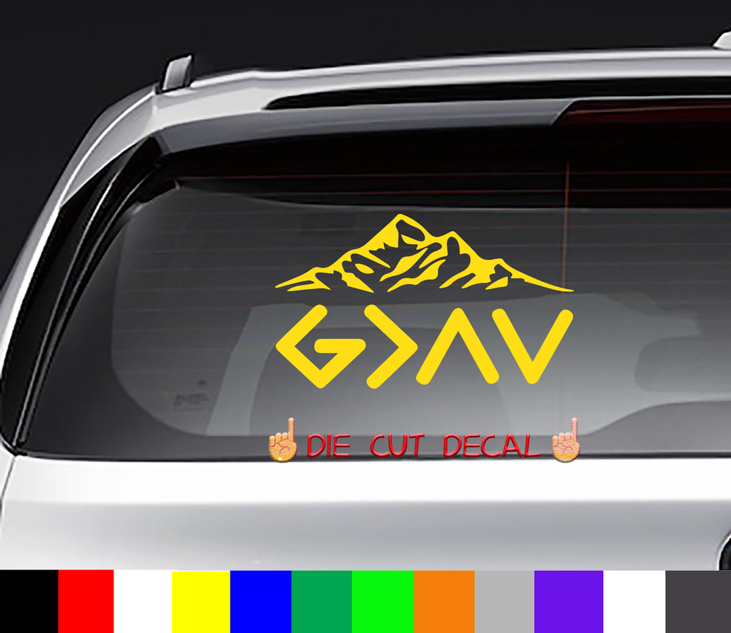 God is Greater Than the Highs and the Lows Decal Sticker