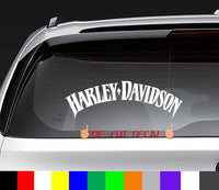 Harley Davidson Text Decal Sticker
