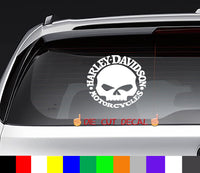Harley Davidson Skull Decal Sticker